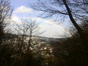 虹が見えました。